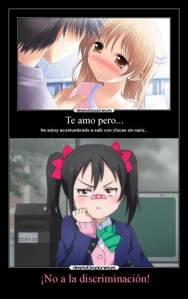 carteles humor anime cartel love live school idol project lovelive yoquese sin nariz desmotivaciones