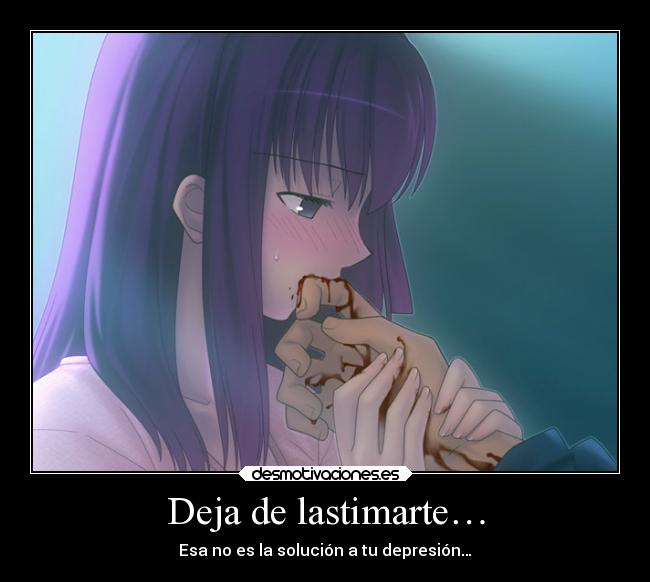carteles dolor anime fate stay night heridas shirou desmotivaciones