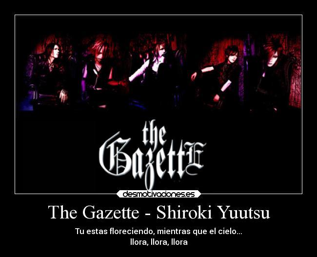 the gazette shiroki yuutsu