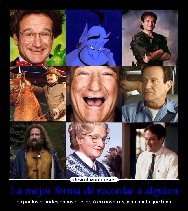 carteles recuerdos requiescatinpace robin williams desmotivaciones
