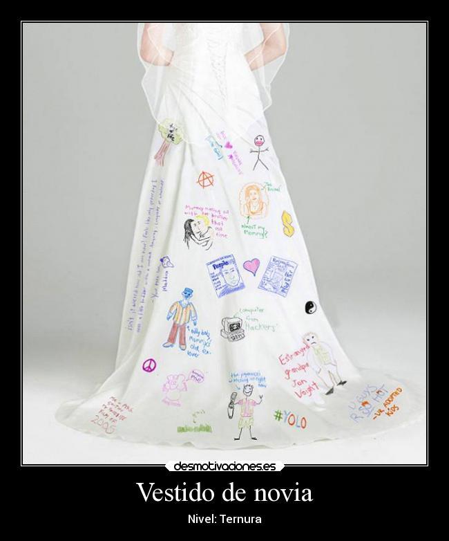 vestido de novia | desmotivaciones