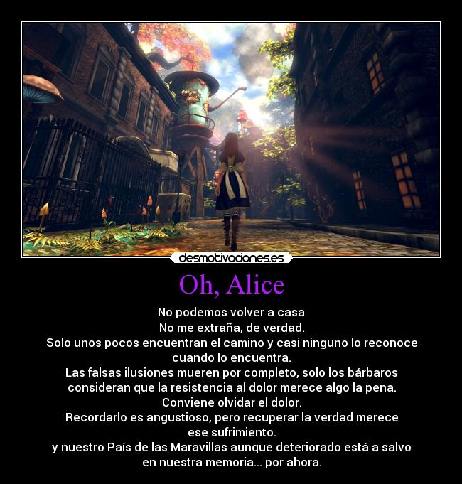 carteles frases redgame alice madness return final wonderland cheshire cat desmotivaciones