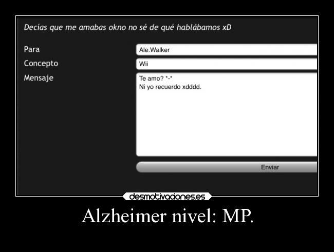 Alzheimer nivel: MP. -