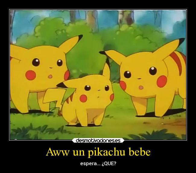 carteles pokemon videojuegos anime pikachu raro bebe pichu desmotivaciones