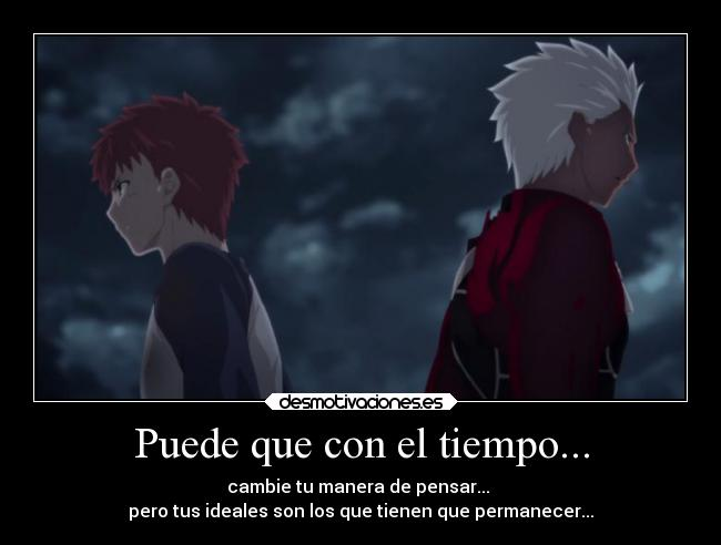 carteles anime fate stay nigth shirou archer desmotivaciones