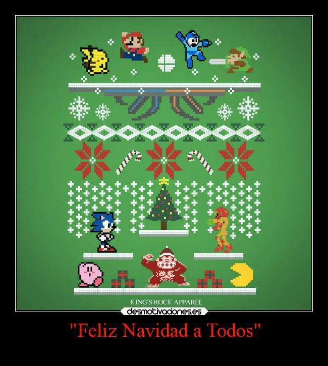 carteles navidad navidad videojuegos pixeles clasicos smash