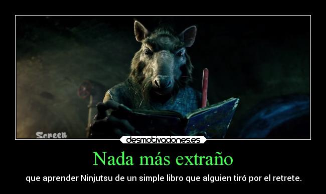 carteles cine tortugas ninja splinter ninjutsu michael bay trailer honeto screen junkies desmotivaciones