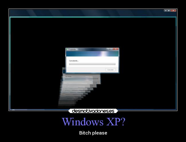 Windows XP? - Bitch please