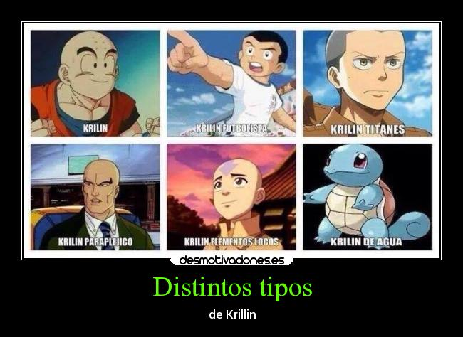 carteles pokemon anime krillin dragon ball super campeones titanes shingeki kyojin connie ang avatar squirtel desmotivaciones