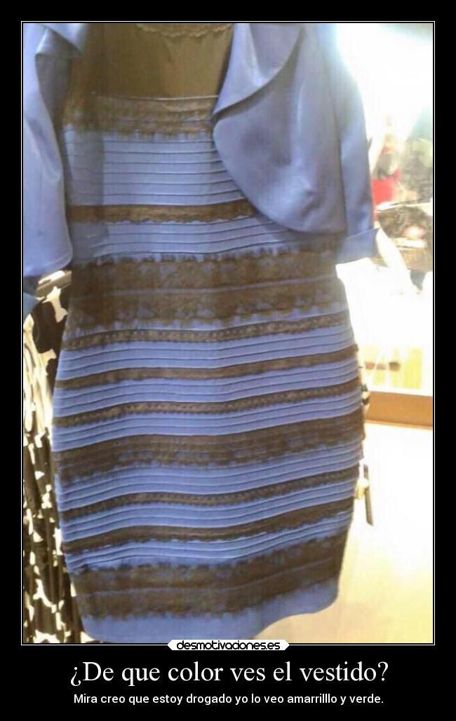 De Que Color Ves El Vestido Desmotivaciones