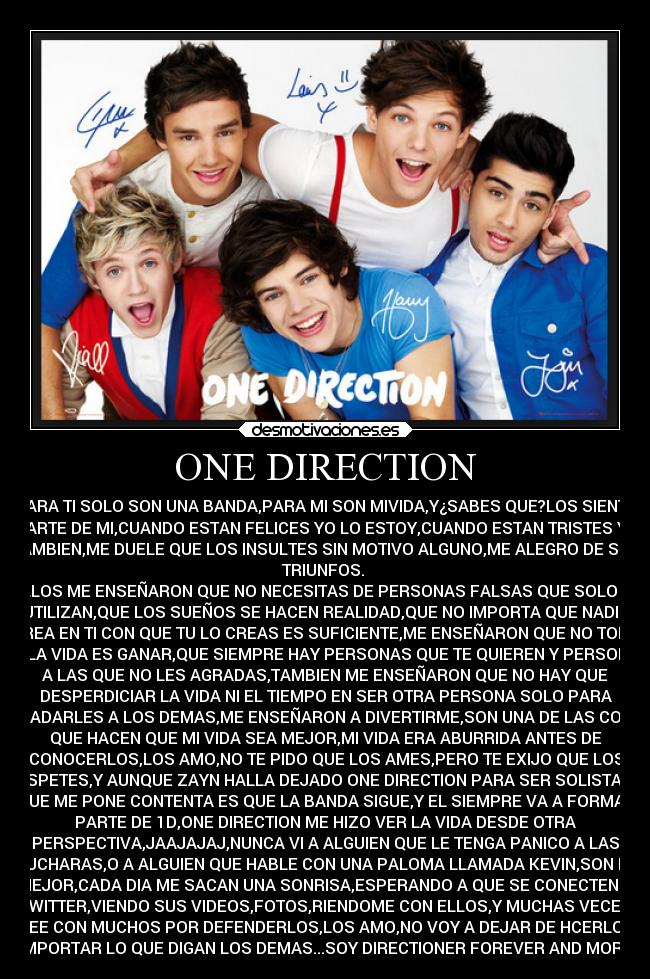 carteles alegria one direction desmotivaciones