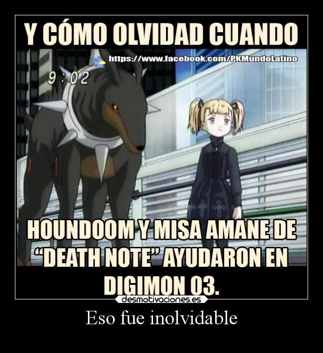 carteles anime digimon death note misa amane houndoom dobermon desmotivaciones