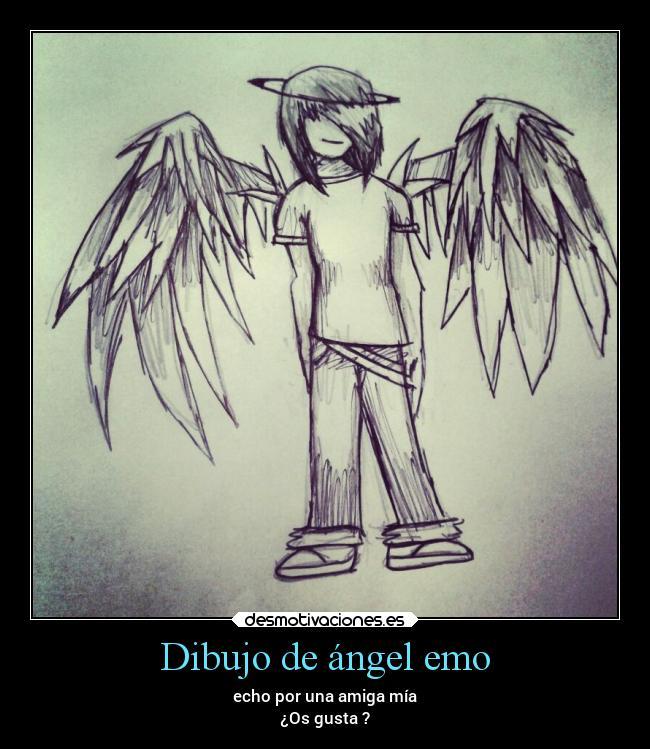 Dibujo De ángel Emo Desmotivaciones
