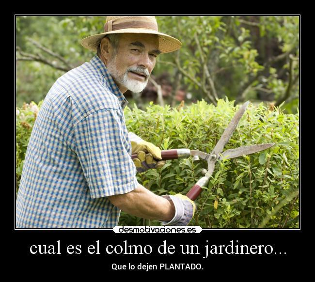Cual es el colmo de un jardinero desmotivaciones - El jardinero en casa ...
