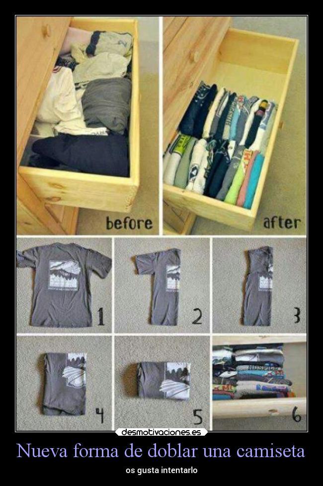 Im genes y carteles de doblar desmotivaciones - Como doblar una camisa ...