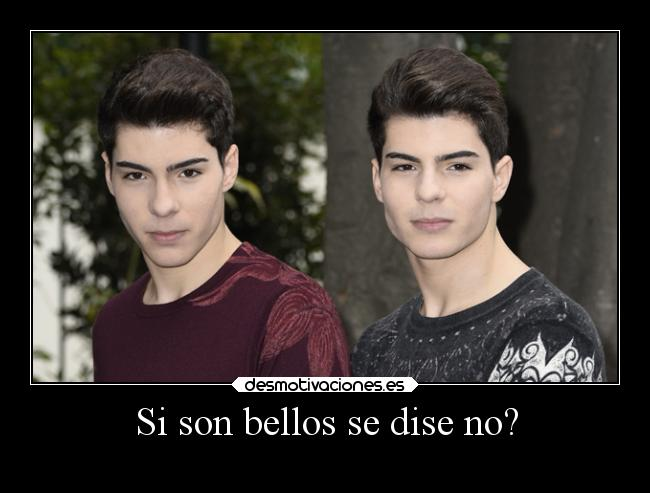 Si son bellos se dise no? -