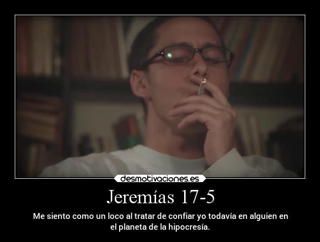 jeremías 17 5 desmotivaciones