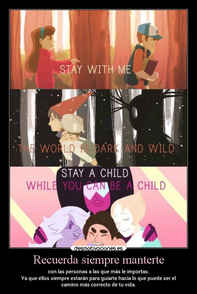 carteles familia amistad amor hermanos steven universe over the garden wall gravity fall ejercitodemar desmotivaciones