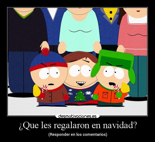 carteles navidad locura humor navidad south park kyle stan cartman