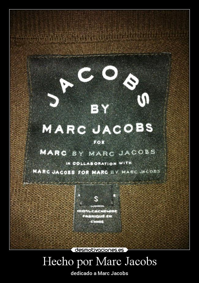 Hecho por Marc Jacobs - dedicado a Marc Jacobs