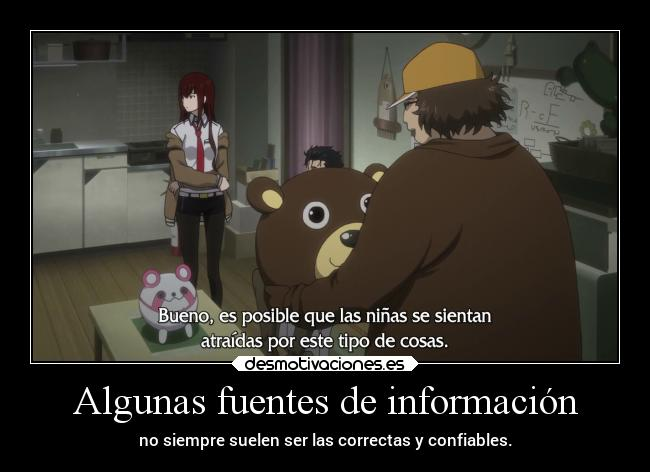 carteles infancia miedo anime steinsgate doniisback doni desmotivaciones