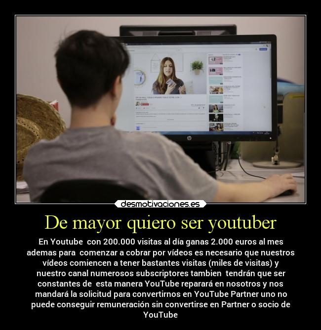 De mayor quiero ser youtuber -