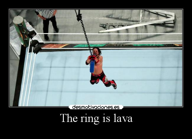 The ring is lava -