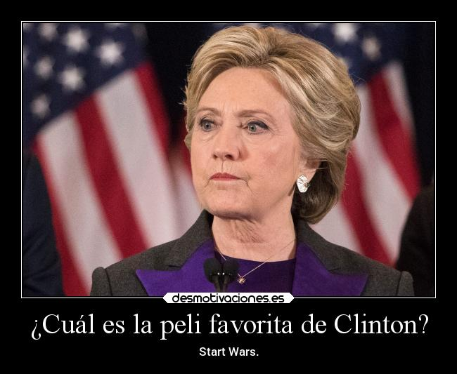 ¿Cuál es la peli favorita de Clinton? - Start Wars.