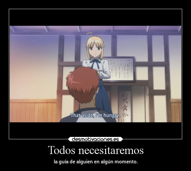 carteles anime shirou saber fate stay night carnnival desmotivaciones