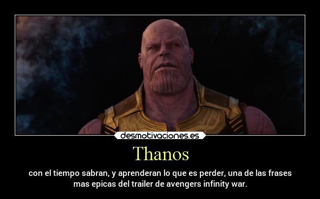 Thanos Desmotivaciones