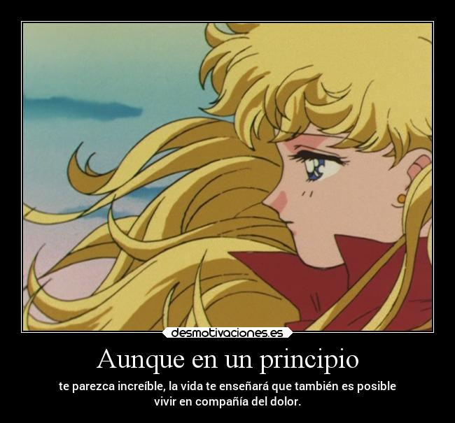 carteles anime vida dolor frases sailormoon desmotivaciones