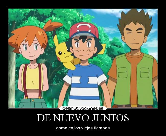 carteles pokemon ash misty brook desmotivaciones