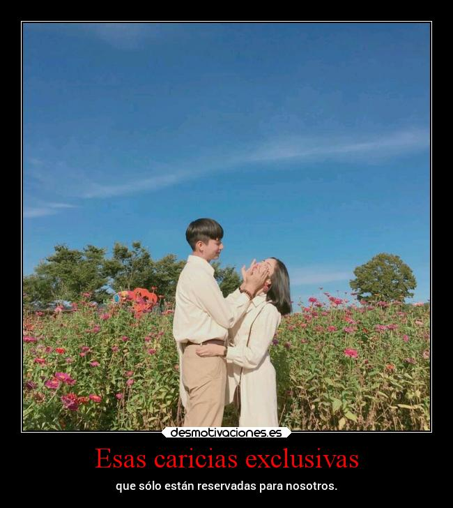 Esas caricias exclusivas -