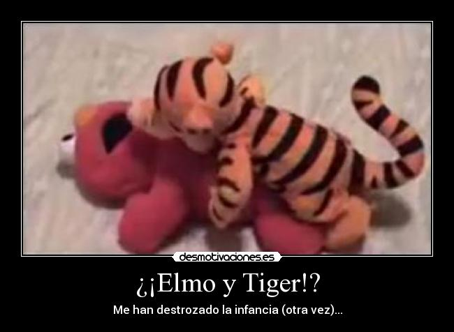 Elmo y Tiger!? | Desmotivaciones