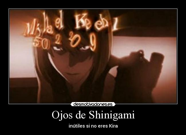 carteles kira anime death note shinigami mello mihael keel light yagami ryuk desmotivaciones