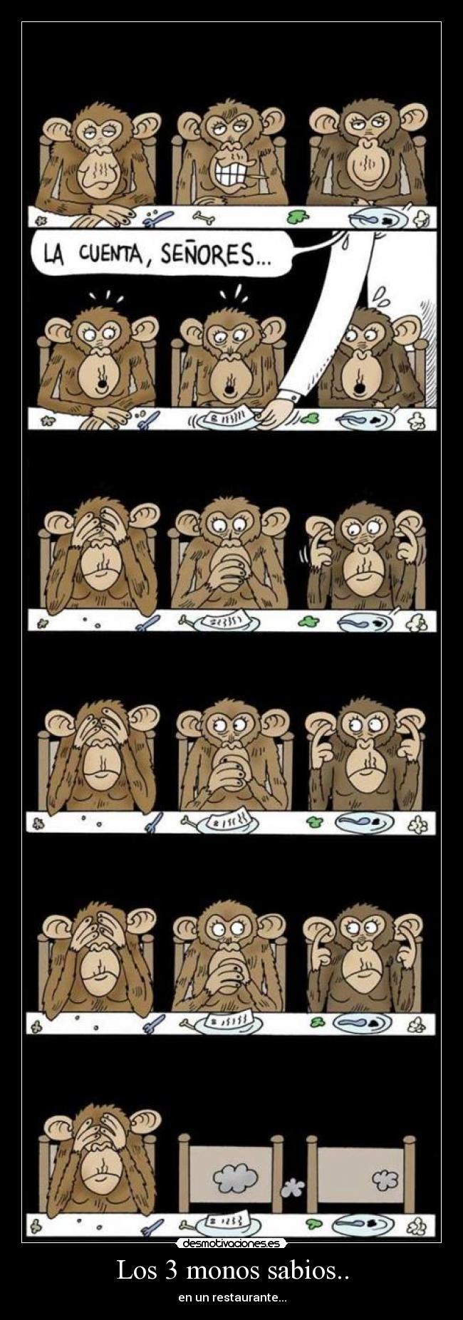 3 Monos Sabios Tatuajes los 3 monos sabios..   desmotivaciones