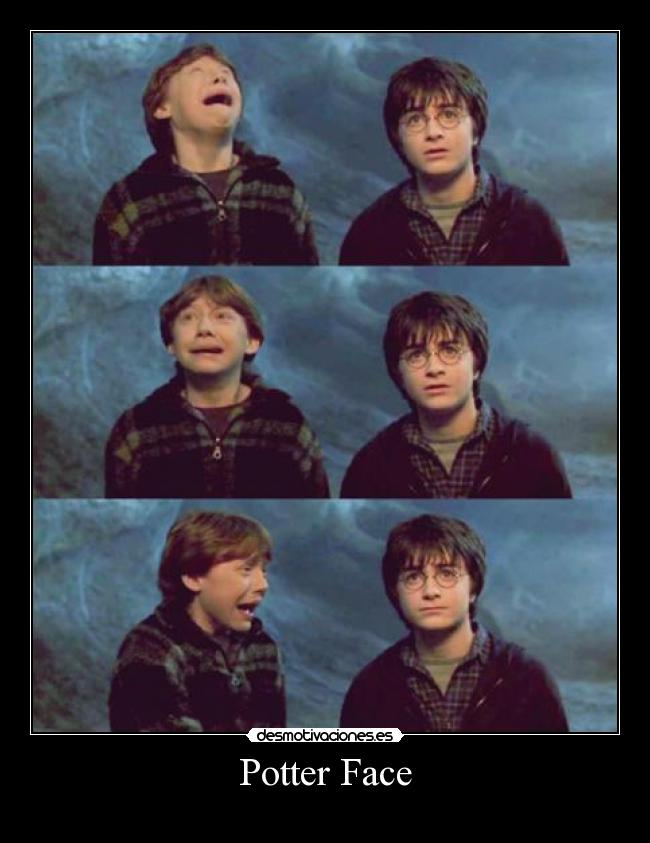 carteles poker face potter harry definicion grafica descripcion desmotivaciones