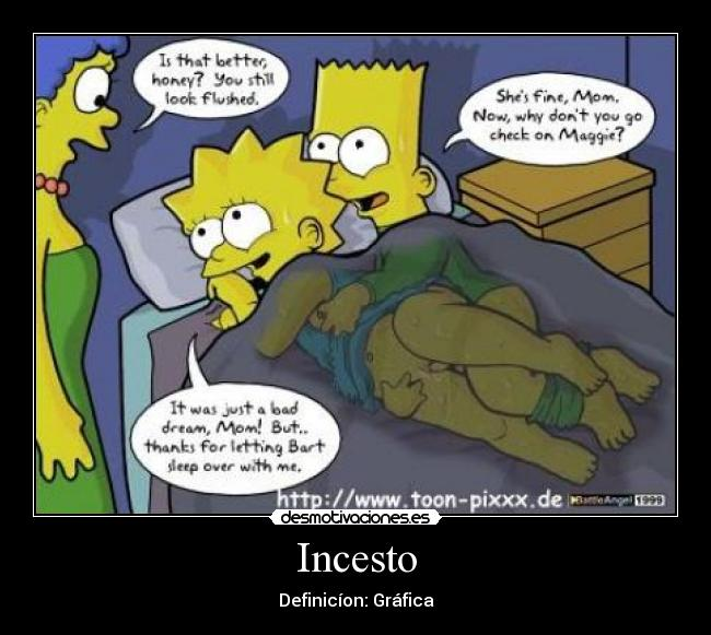 Lisa en Bart Simpson cartoon porno