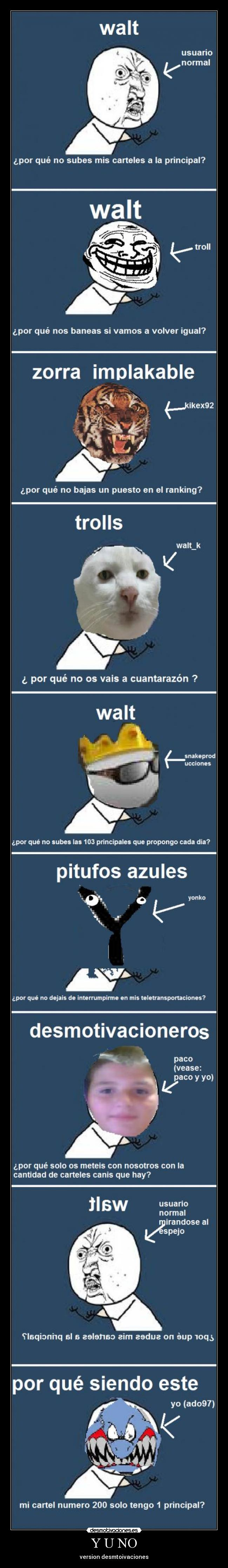 Y U NO - version desmtoivaciones