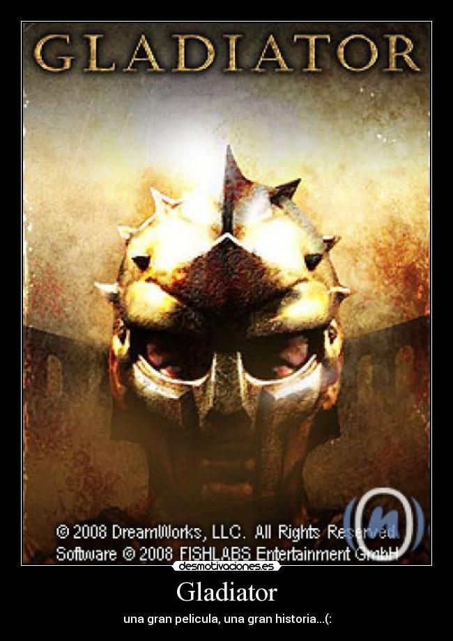 cartel de la pelicula gladiador