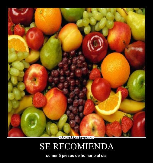 comer 5 frutas al dia