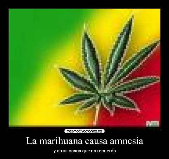 La Marihuana Causa Amnesia Desmotivaciones