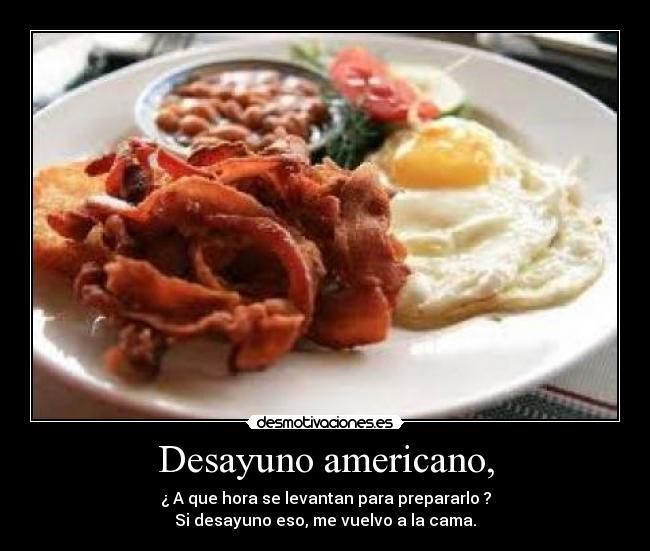 Desayuno Americano Caracteristicas