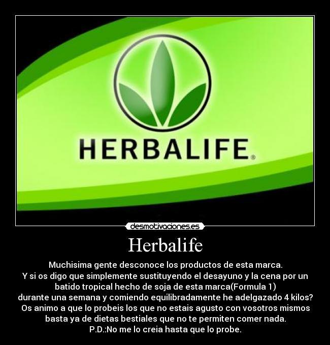 Licuado para adelgazar herbalife logo