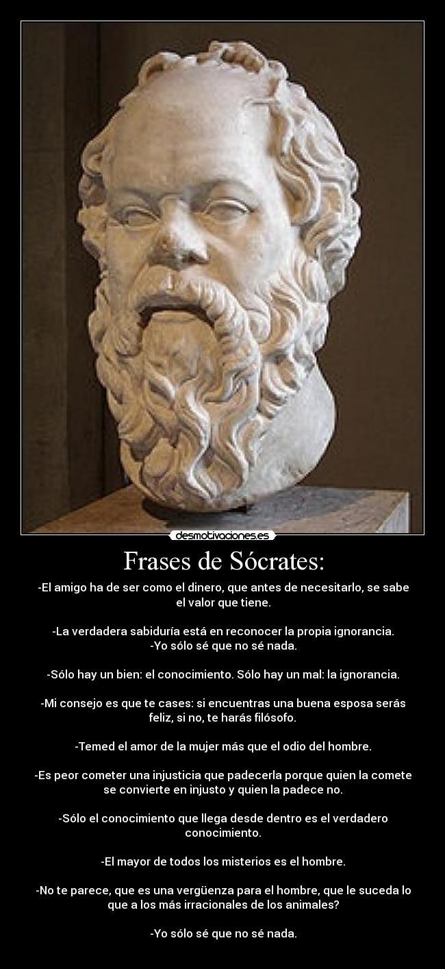 Frases De Sócrates Desmotivaciones