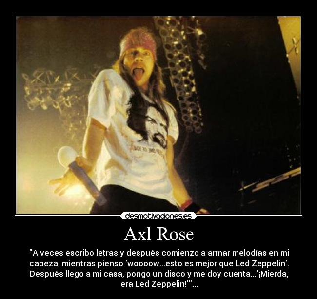Axl Rose Desmotivaciones