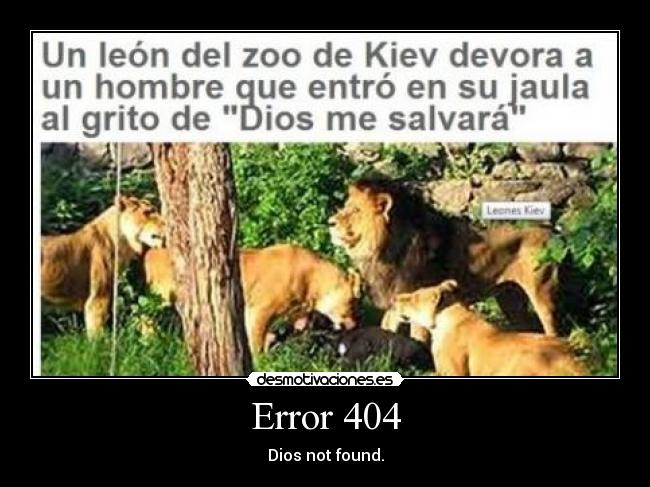 Error 404 - Dios not found.