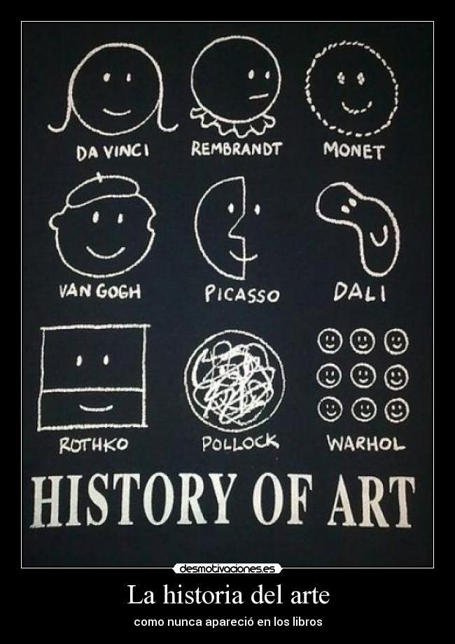 La historia del arte   Desmotivaciones