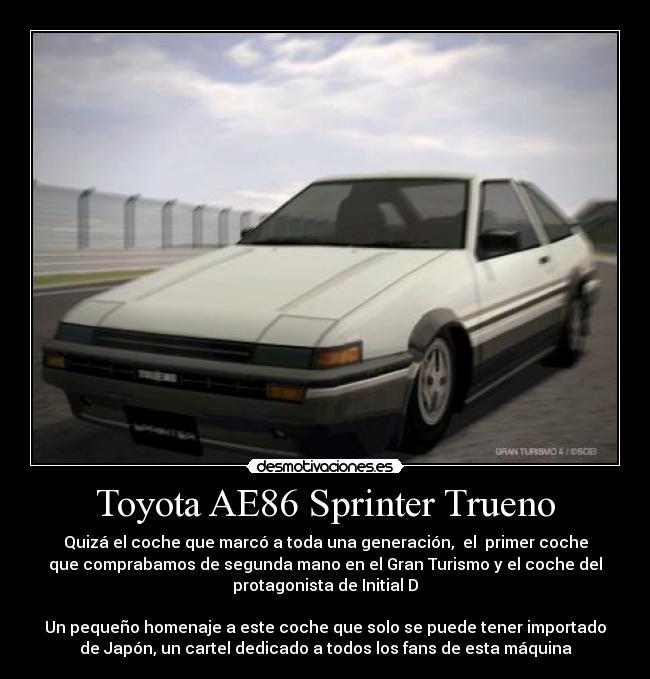 Toyota Ae86 Sprinter Trueno Desmotivaciones