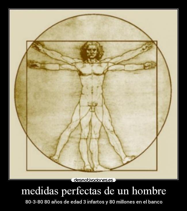 medidas perfectas del hombre